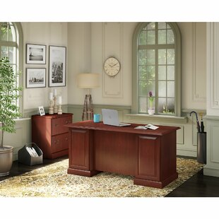 Kathy Ireland Office by Bush Bennington 2 Piece Rectangular Desk Office Suite