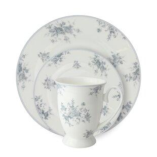 Stockwell Bone China Rose 12 Piece Dinnerware Set, Service for 4