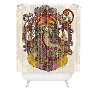 Valentina Ramos Lord Ganesh Single Shower Curtain by East Urban Home Modern