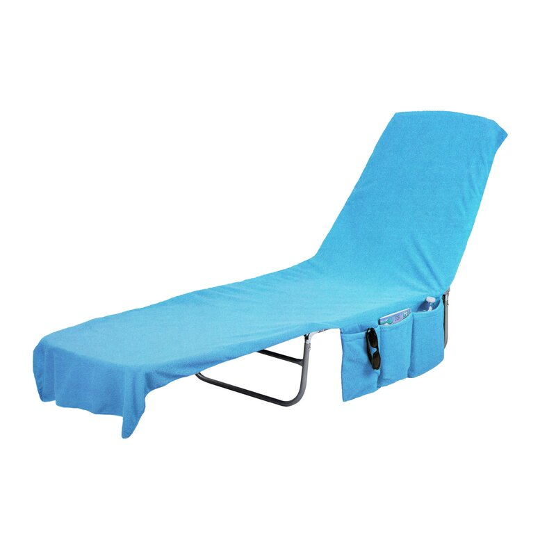Freeport Park 2 In 1 Terry Cloth Chaise Pool Lounge Cover Beach