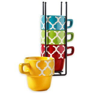 Alvarie Stacking Coffee Mug With Storage Set Of 5
