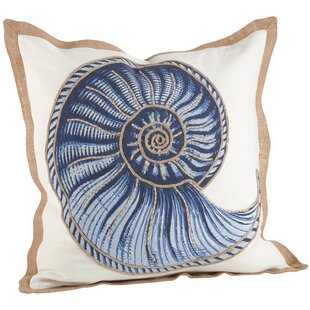 Aloisia Spiral Shell Cotton Throw Pillow
