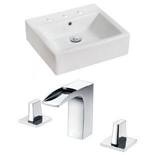 Compare prices Ceramic Rectangular Vessel Bathroom Sink with Faucet and Overflow By Royal Purple Bath Kitchen