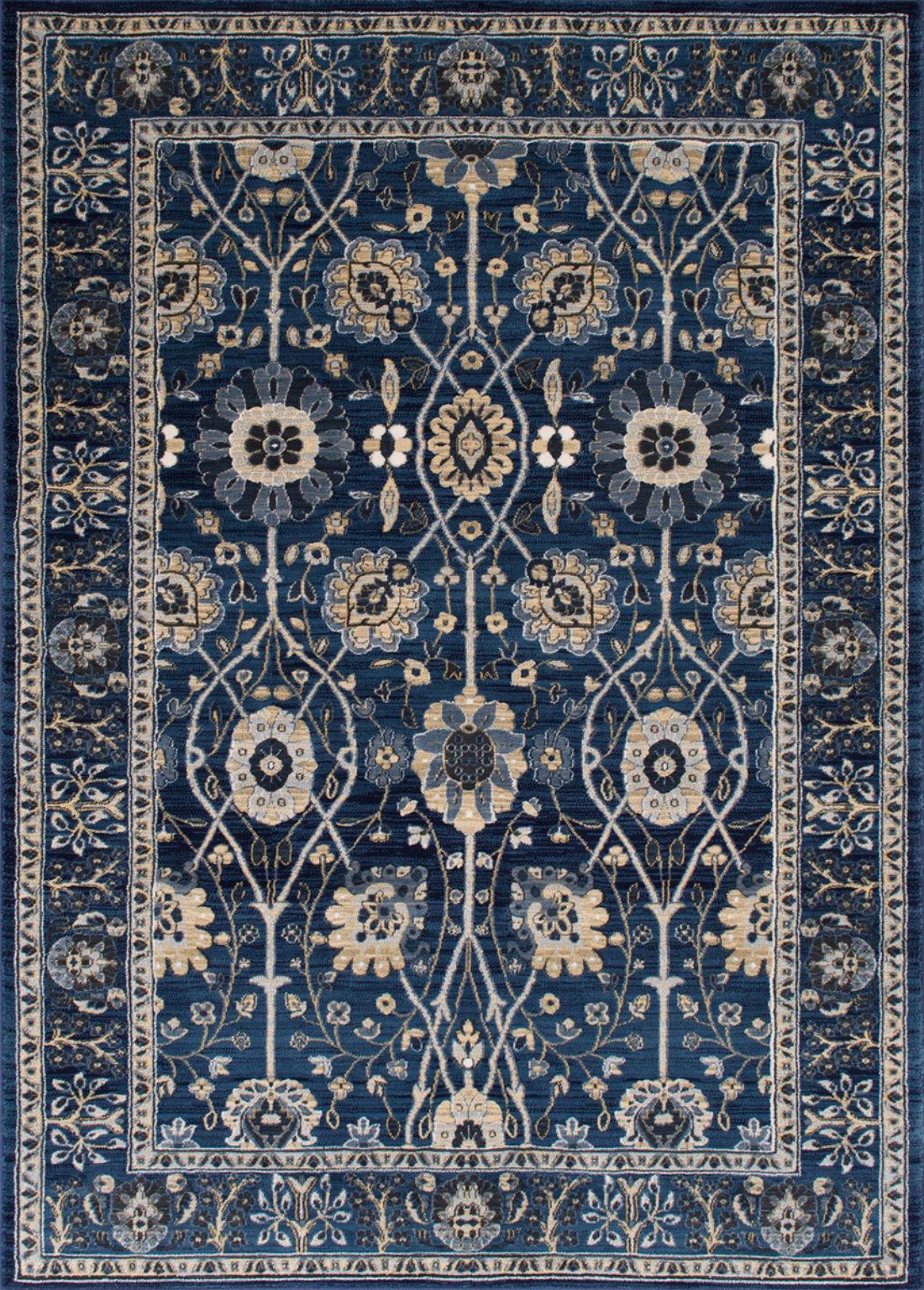 Astoria Grand Woodson Floral Thunder Blue Area Rug Wayfair