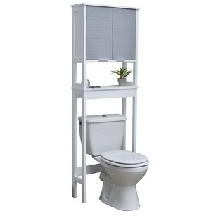 Modern D 23.12 W x 68.5 H Over The Toilet Storage by Evideco