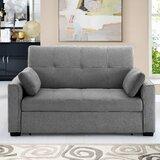 Wanita Microfiber 67 Recessed Arm Sofa Bed by Latitude Run®