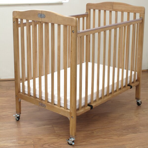 L.A. Baby Baby Crib with Mattress & Reviews   Wayfair