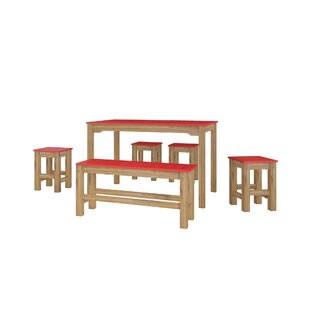 Wiggin 6 Piece Solid Wood Dining Set Millwood Pines
