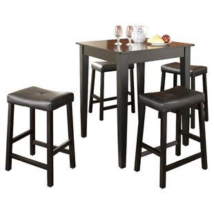 Haslingden 5 Piece Dining Set Three Posts