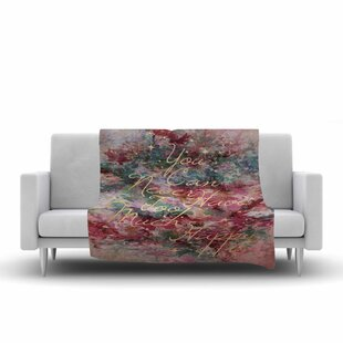 Ebi Emporium Too Much Happy 1 Painting Fleece Blanket ByEast Urban Home