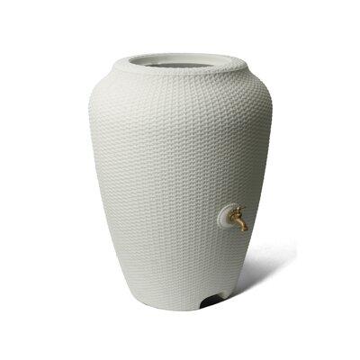 Wicker 50 Gallon Rain Barrel Algreen Color: White Sand