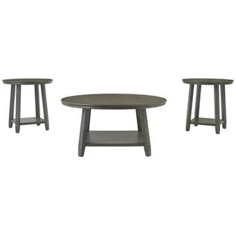 Union Rustic Tolan 3 Piece Coffee Table Set Reviews Wayfair Ca
