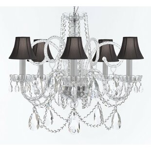 Rosdorf Park Cozine 5-Light Shaded Chandelier