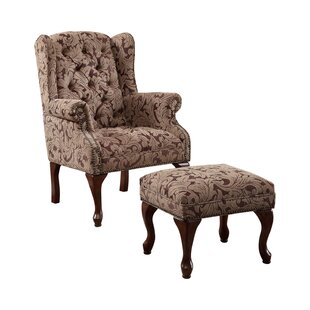 St Charles Armchair and Ottoman by Astoria Grand