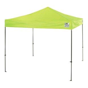 10 Ft. W x 10 Ft. D Steel Pop-Up Canopy by Ergodyne