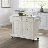 Baisden Kitchen Cart with Granite Top by August Grove®