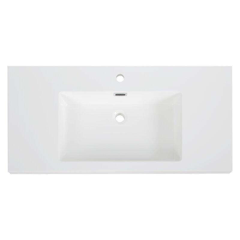 Streamlinebath Solid Surface Resin 39 Bathroom Vanity Top Wayfair