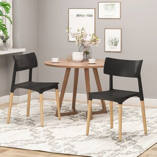 Inexpensive Bohrer Solid Wood Dining Chair (Set of 2) by Corrigan Studio Reviews (2019) & Buyer's Guide