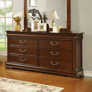 Hazelwood Home 6 Drawer Double Dresser