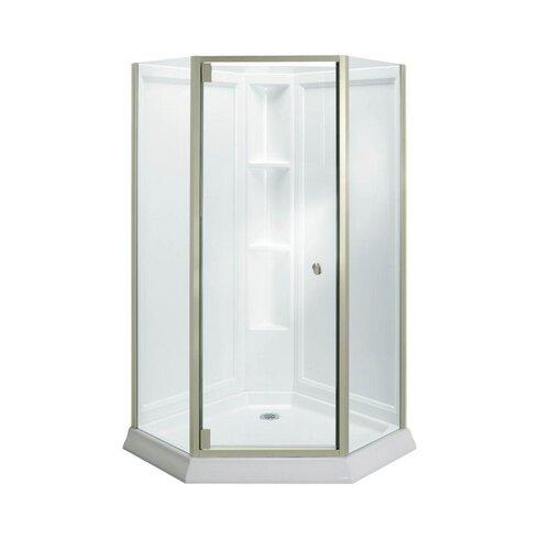 Sterling by Kohler Solitaire® Frameless Neo-Angle Corner Shower ...