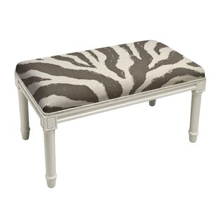 House of Hampton Apolonio Zebra Stripe Wood Bench