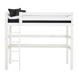 Premium Single High Sleeper Bed With Ladder And Tabletop By Hoppekids