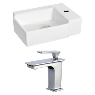 Inexpensive Ceramic 16.25 Bathroom Sink with Faucet ByRoyal Purple Bath Kitchen