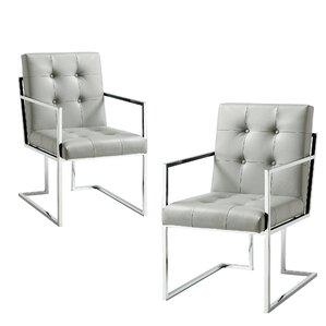 Bellamy Chrome Arm chair (Set of 2) by Ev..