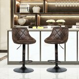 Pagedale Swivel Adjustable Height Counter & Bar Stool by 17 Stories