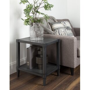 Compare Gretchen Wooden Side Accent End Table by Breakwater Bay
