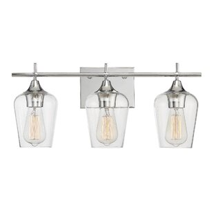 Modern vanity lighting allmodern staci 3 light vanity light aloadofball Gallery