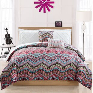 Gayle 5-Pieces Reversible Comforter Set