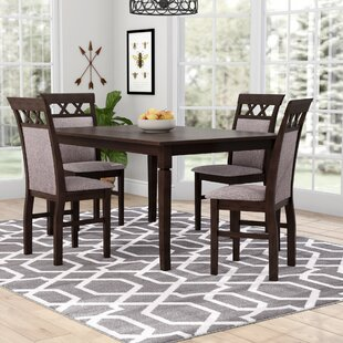 Banfield 5 Piece Solid Wood Dining Set by Gracie Oaks