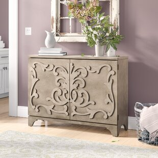 Andr?a Ornate Overlay 2 Door Bar Cabinet by One Allium Way