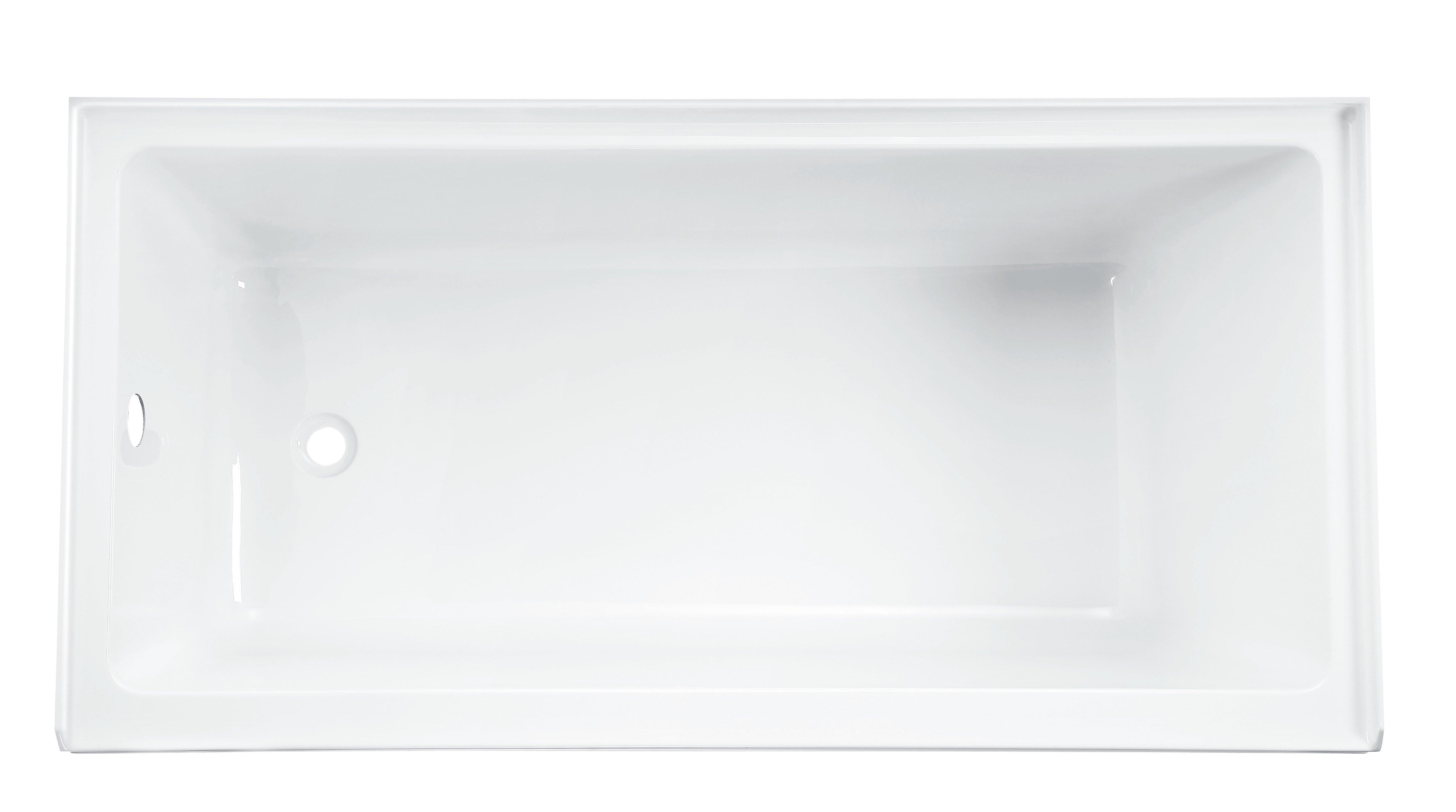 integral american x tub with bathtub inch apron drain studio right bathroom bathtubs standard