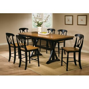 Courtdale 7 Piece Extendable Dining Set Three Posts