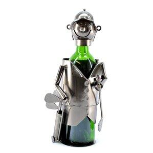 Freeman Golfer with Bag 1 Bottle Tabletop Wine Rack by Red Barrel Studio