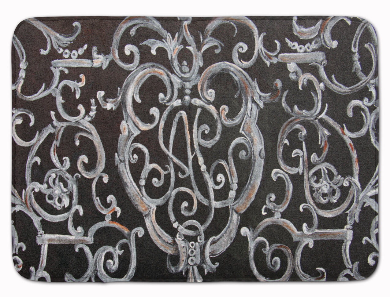 East Urban Home Ironwork Fence Rectangle Microfiber Non Slip Abstract Bath Rug Wayfair