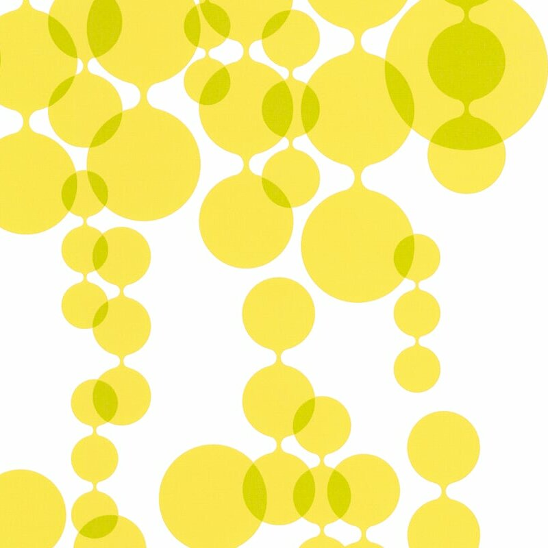 Peel-and-Stick Removable Wallpaper Dots Baby Painted Mustard Girls Painterly