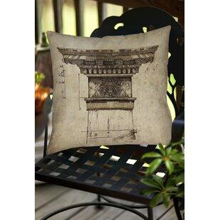Column I Indoor/Outdoor Throw Pillow
