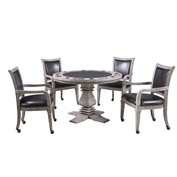 Game Table Chairs With Casters   Wayfair