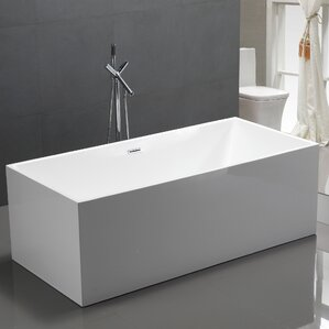 59  x 29 5  Freestanding Soaking BathtubFreestanding Tubs. Small Freestanding Soaking Tub. Home Design Ideas