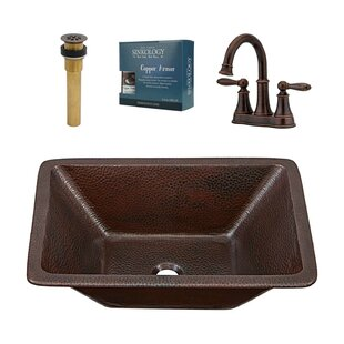 Hawking Metal Rectangular Undermount Bathroom Sink with Faucet Sinkology