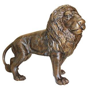Guardian Lion Cast Bronze Garden Statue