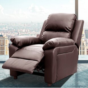 Montana Leather Reclining Heated Massage Chair by PDAE Inc.