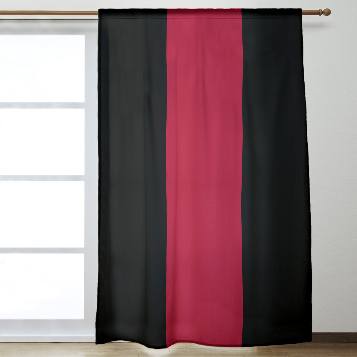 East Urban Home Georgia Window Striped Room Darkening Rod Pocket Single Curtain Panel Wayfair