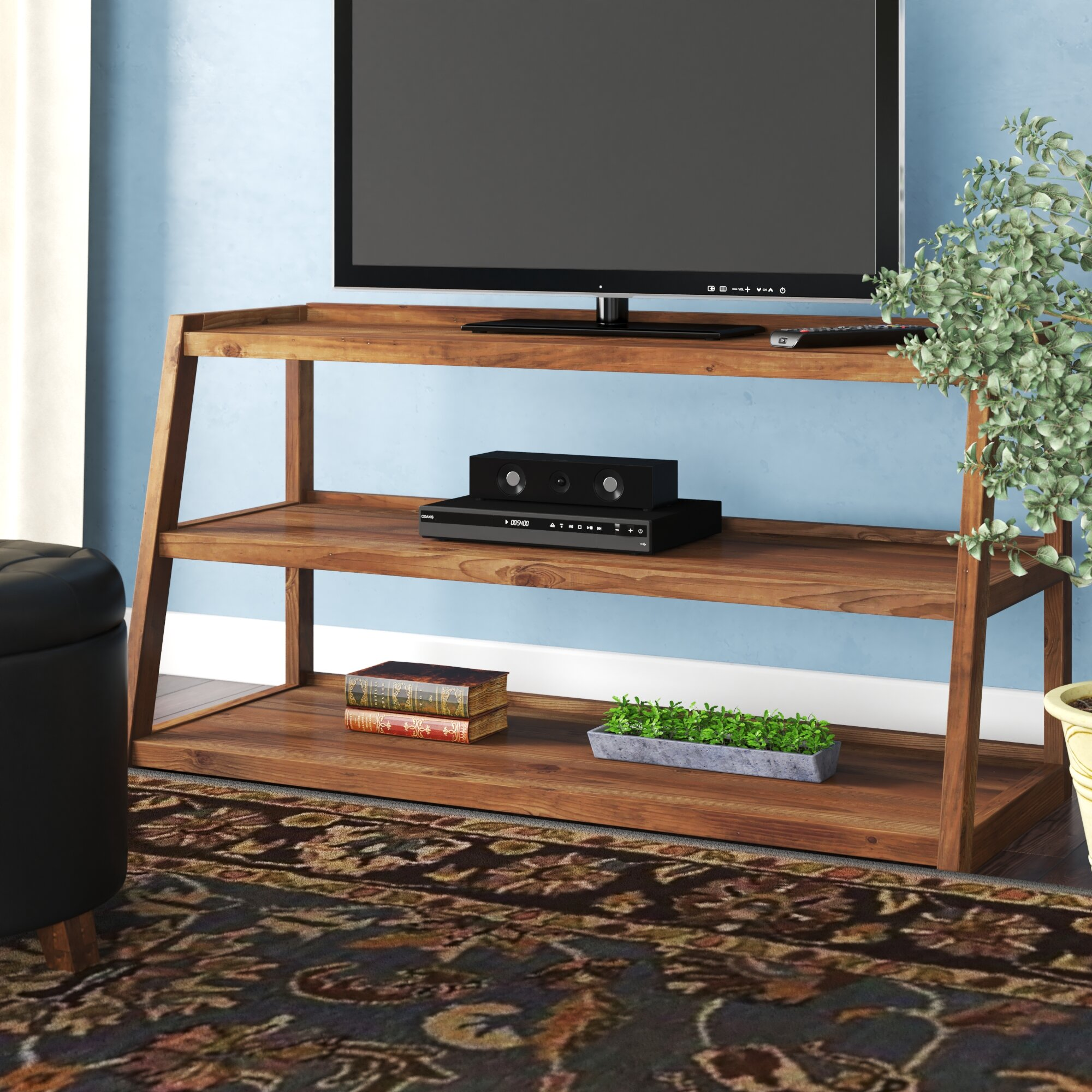 Birch Lane Ine Solid Wood Tv Stand For Tvs Up To 55 Reviews Wayfair