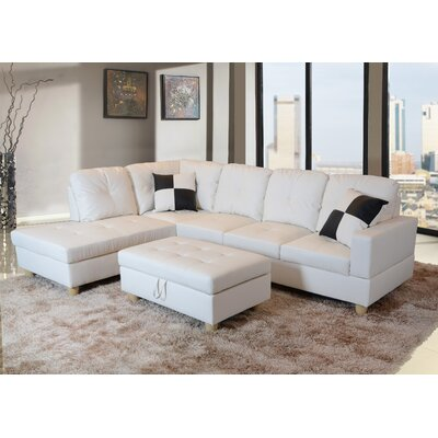 Superb Russ Sectional With Ottoman Andover Mills Upholstery Color Alphanode Cool Chair Designs And Ideas Alphanodeonline