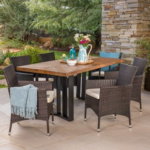 Ortonville Outdoor 7 Piece Dining Set with Cushions