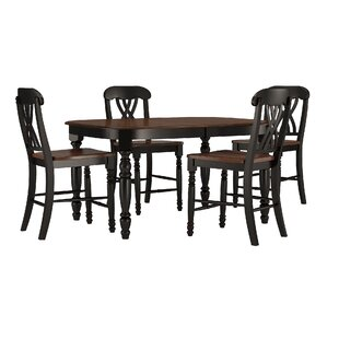 Ashleigh 5 Piece Counter Height Dining Se..